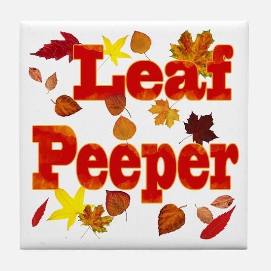 Leaf Peeper Tile Coaster