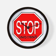 Stop Snitchin Wall Clock