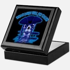 """Blue Ghost of the Captian"" Pirate Keepsake Box"