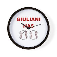 Giuliani Has balls Wall Clock