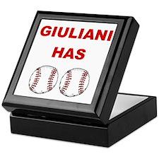 Giuliani Has balls Keepsake Box