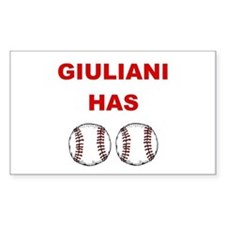 Giuliani Has balls Rectangle Decal