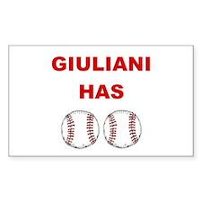Giuliani Has balls Rectangle Decal