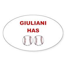 Giuliani Has balls Oval Decal