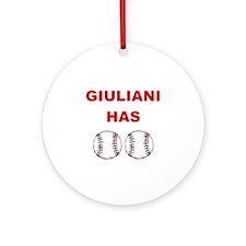 Giuliani Has balls Ornament (Round)