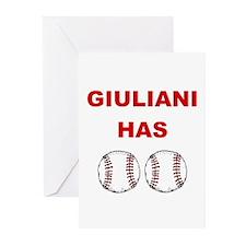 Giuliani Has balls Greeting Cards (Pk of 10)