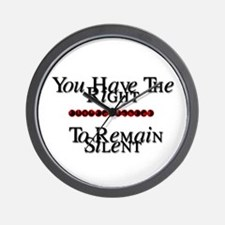 Right To Remain Silent Wall Clock