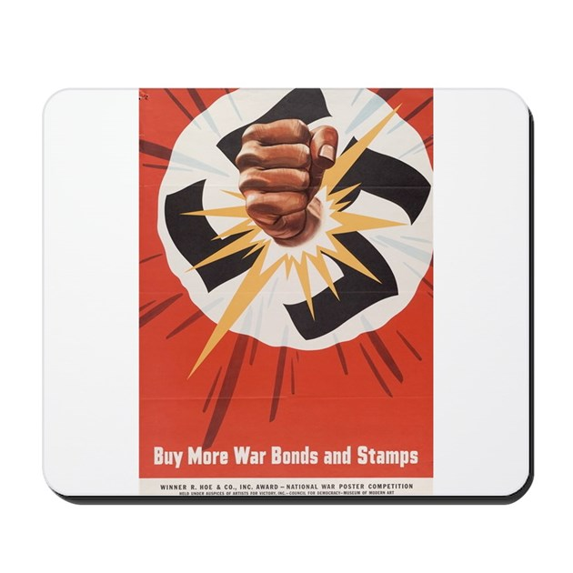 Wwii Poster Buy More War Bonds Mousepad By Valueliberty