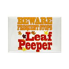 Beware Leaf Peeper Rectangle Magnet