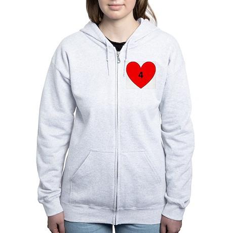 Aaron Craft Love Women's Zip Hoodie