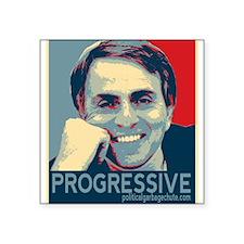 "Sagan - ""PROGRESSIVE"" Square Sticker 3"" x 3"""