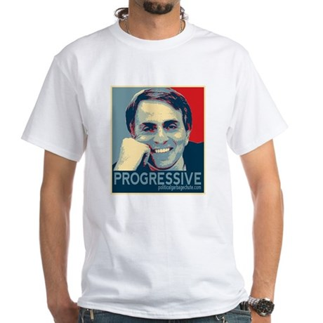 "Sagan - ""PROGRESSIVE"" White T-Shirt"