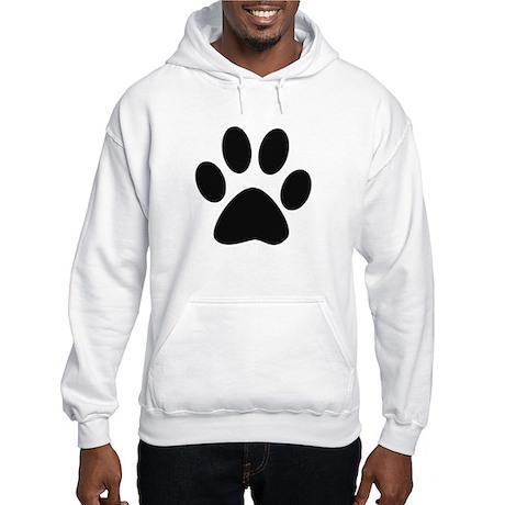 Paw Print Hooded Sweatshirt
