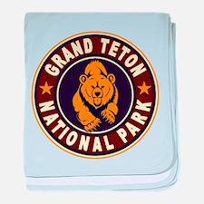 Grand Teton Vintage Circle baby blanket