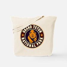 Grand Teton Vintage Circle Tote Bag