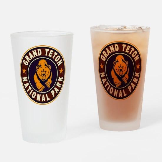 Grand Teton Vintage Circle Drinking Glass