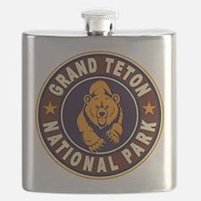 Grand Teton Vintage Circle Flask