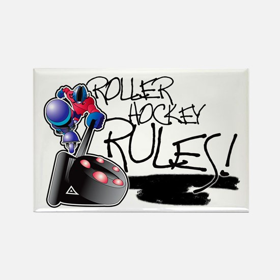 Roller Hockey Rules! Rectangle Magnet