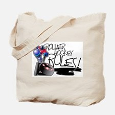 Roller Hockey Rules! Tote Bag