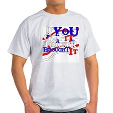 Red, White and Blue Ash Grey T-Shirt