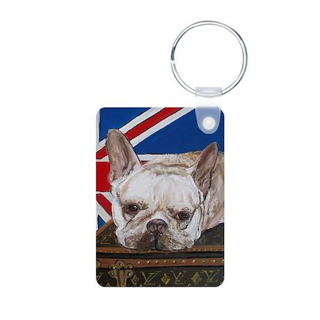 """French Bulldog"" Aluminum Photo Keychain"