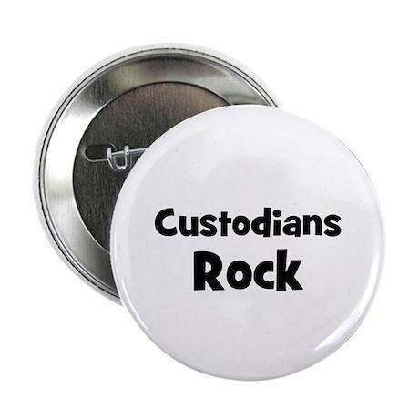 """CUSTODIANS Rock 2.25"""" Button (10 pack)"""