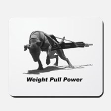 Pitbull Weight Pull Power Mousepad