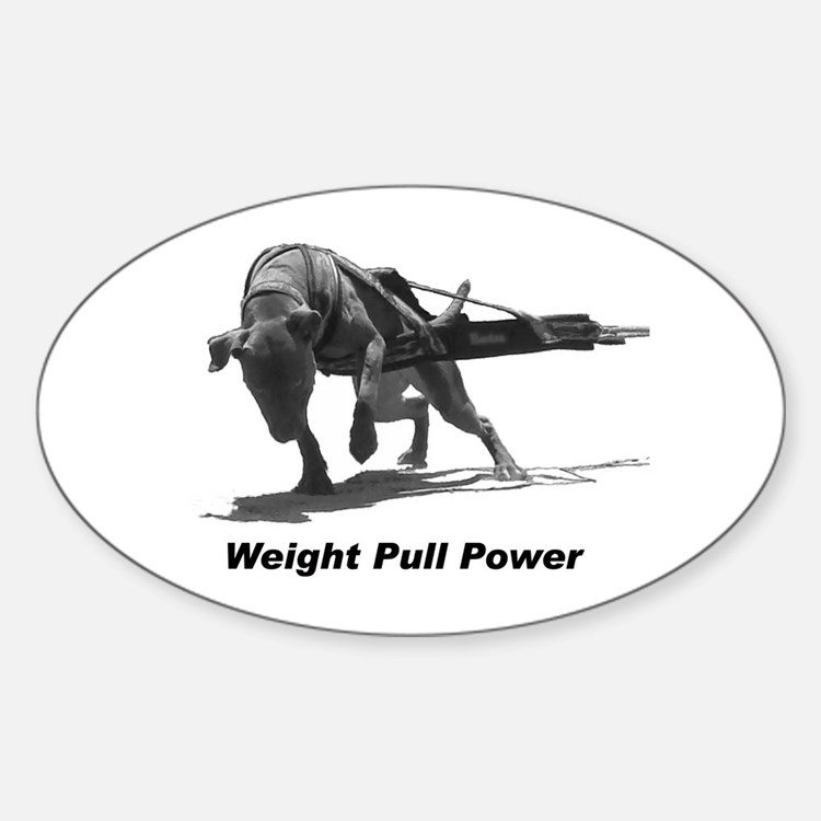 Pitbull Weight Pull Power Decal