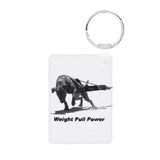 Pitbull Weight Pull Power Keychains