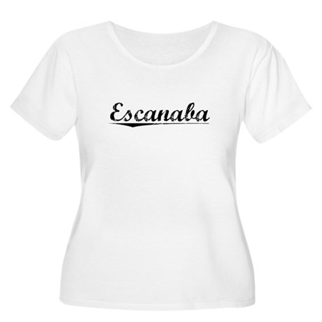 Escanaba, Vintage Women's Plus Size Scoop Neck T-S