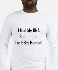 I'm 98% Human! Long Sleeve T-Shirt