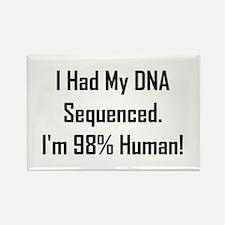 I'm 98% Human! Rectangle Magnet