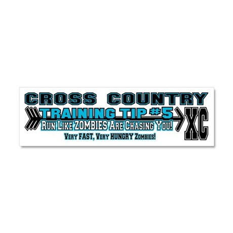 Cross Country Zombie Training Car Magnet 10 x 3