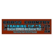 Cross Country Zombie Training Bumper Sticker
