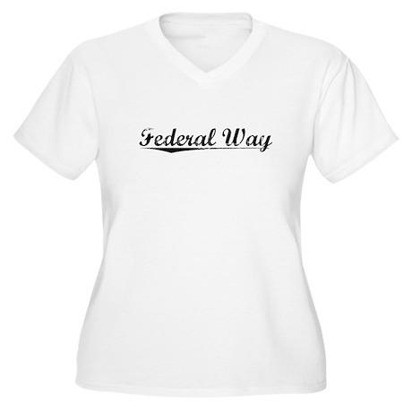 Federal Way, Vintage Women's Plus Size V-Neck T-Sh