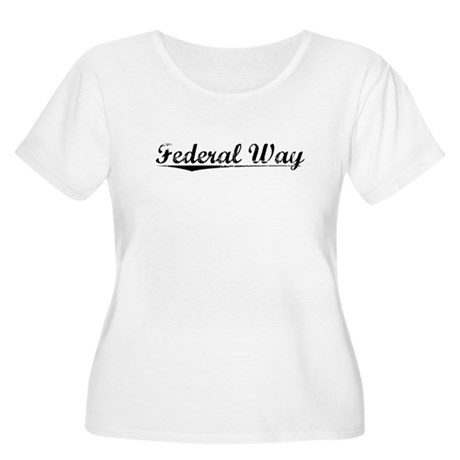 Federal Way, Vintage Women's Plus Size Scoop Neck