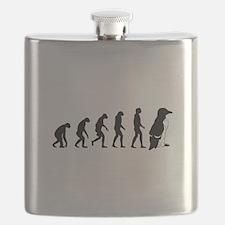 Humans evolve into penguins Flask