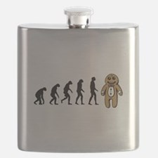Humans evolve into gingerbread man Flask