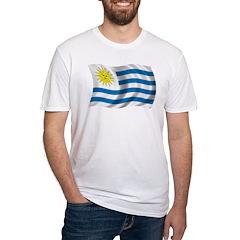 Wavy Uruguay Flag Shirt