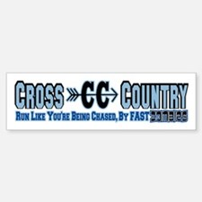 Cross Country Zombies Chasing Bumper Bumper Sticker