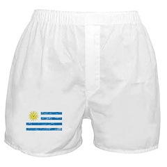 Vintage Uruguay Flag Boxer Shorts