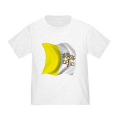 Wavy Vatican city Flag T