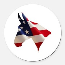 Proud American Home Round Car Magnet