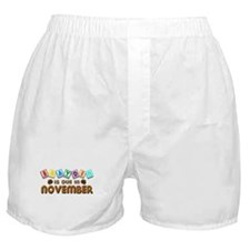 Brayden is Due in November.png Boxer Shorts