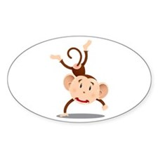 Cute and Cuddly Baby Monkey Decal