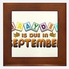 Brayden is Due in September.png Framed Tile