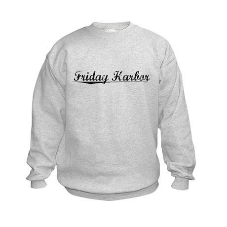 Friday Harbor, Vintage Kids Sweatshirt