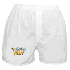 Brayden is Due in May.png Boxer Shorts