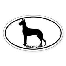 Great Dane BW Decal