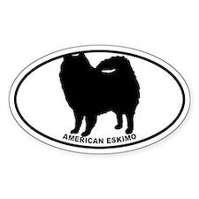 American Eskimo BW Decal